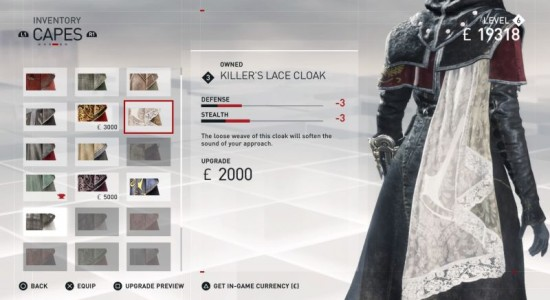 assassin's creed syndicate cloak