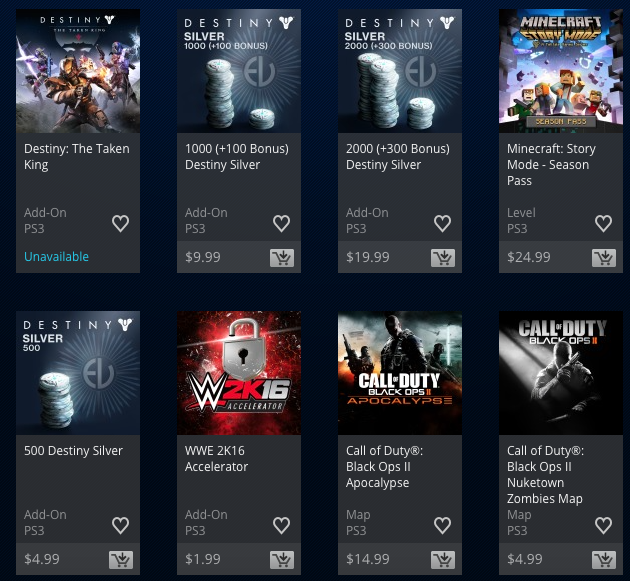 destiny silver psn store playstation microtransactions