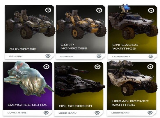 REQ system, Halo, Halo 5: Guardians, Warzone, UNSC Vehicles