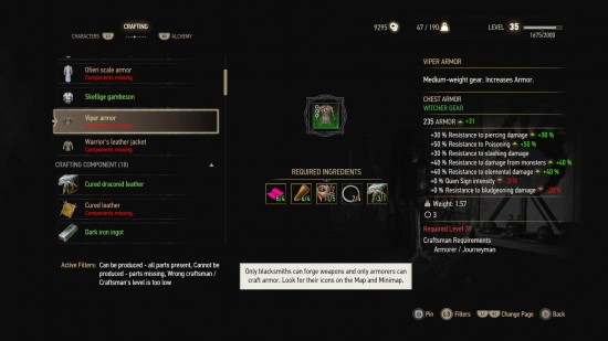 hearts of stone viper armor witcher 3 diagrams