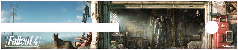 Fallout 4 Xbox One Custom Exclusive GameStop Faceplate preorder bonus