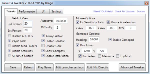 fallout 4 configuration mod