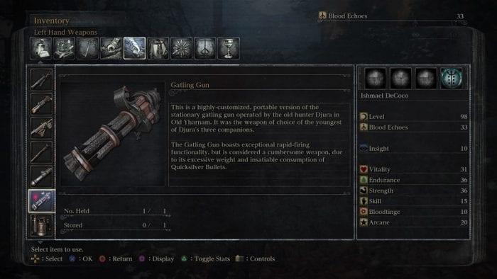Bloodborne Gatling Gun