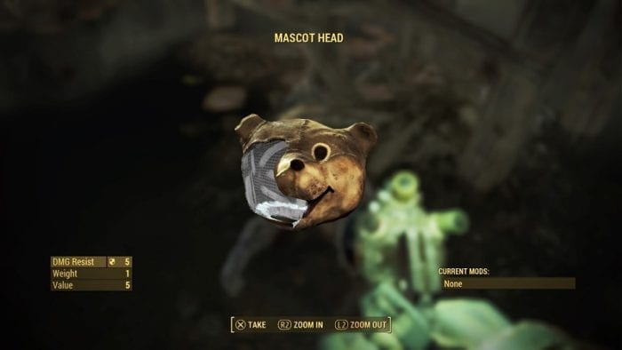 fallout 4 how to get the bear helmet mascot head