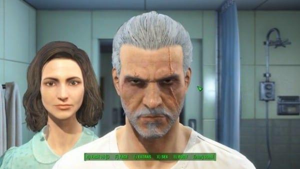 Fallout 4, character creation, Geralt