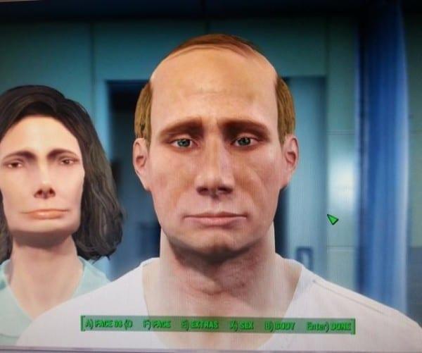 Fallout 4, character creation, Putin