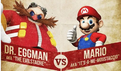 Movember Mario vs Eggman