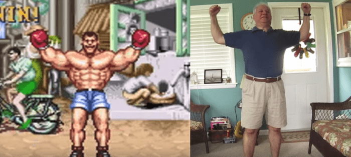 Street Fighter II Dad Victory Poses