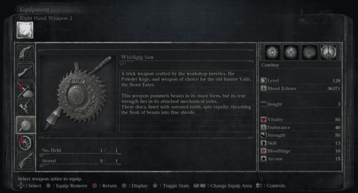 bloodborne whirligig saw