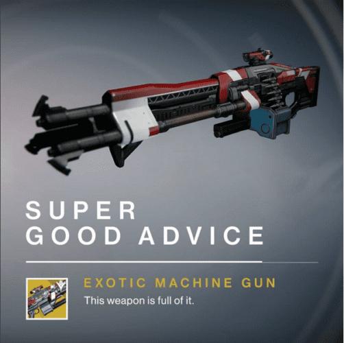 destiny super good advice