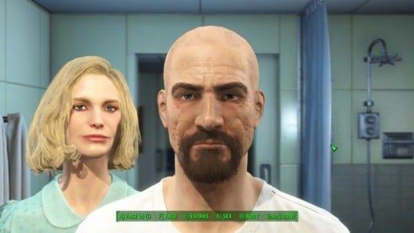 Fallout 4, character creation, Skylar, Walter White