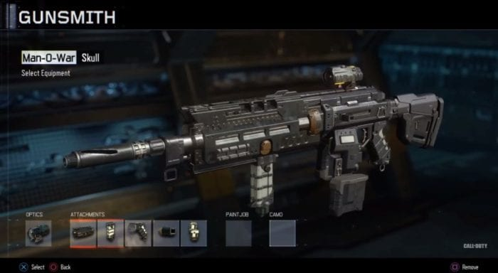 call of duty black ops 3 five attachments gun