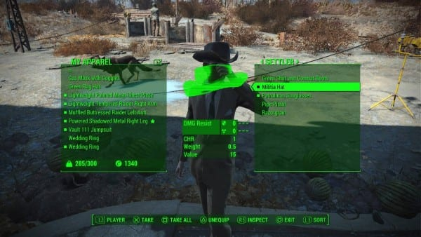 fallout 4 companion settler how to equip