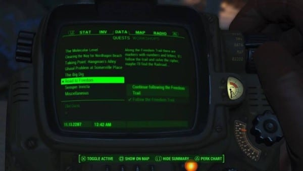 Fallout 4: The Road to Freedom Quest Walkthrough