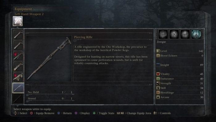 bloodborne piercing rifle
