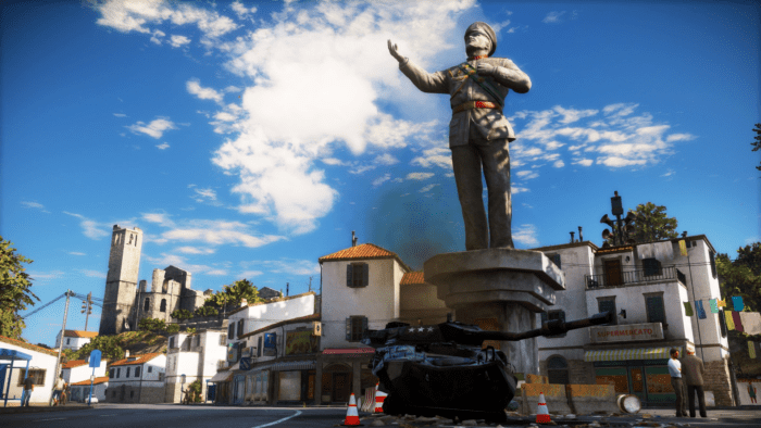 Just_Cause_3_statue_and_armored_vehicle