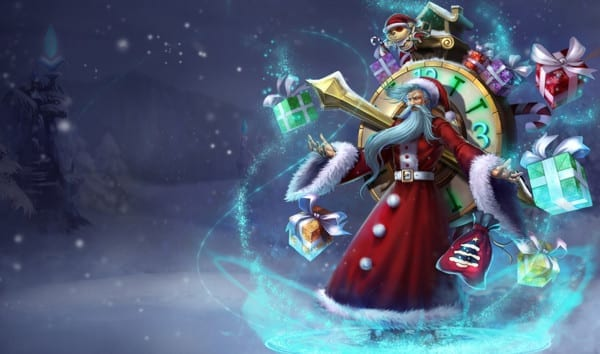 Old Saint Zilean league of legends slowdown showdown winter skin splash