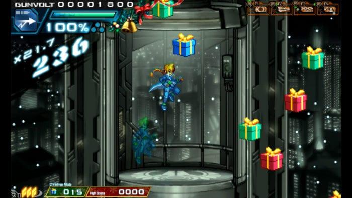 Azure Striker Gunvolt Christmas Mode
