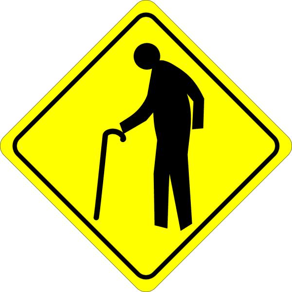 Warning Old people