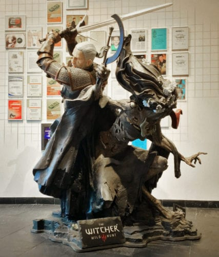witcher 3 statue geralt noonwraith auction cd projekt red