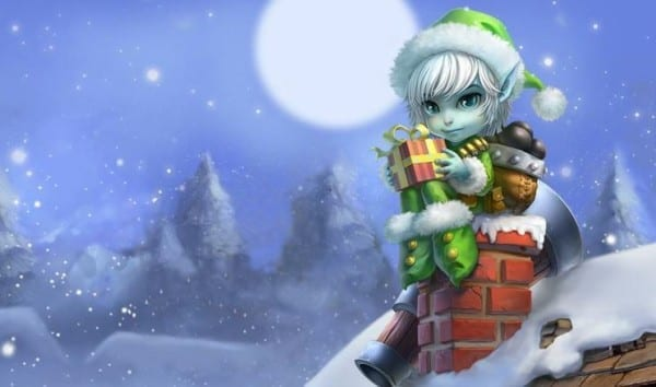 Earnest Elf Tristana league of legends slowdown showdown winter skin splash