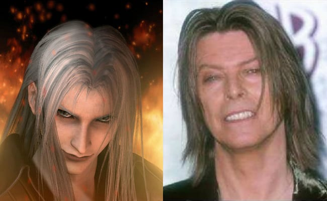 David Bowie is in every video game, Final Fantasy VII, Sephiroth