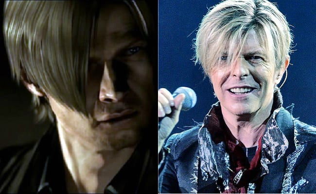 David Bowie is in every video game, Resident Evil, Leon Kennedy