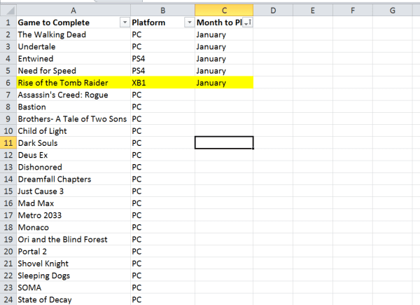spreadsheets, backlog