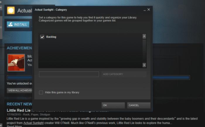 Steam Categories