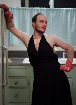 guy wearing dress