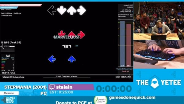 Stepmania at AGDQ, community