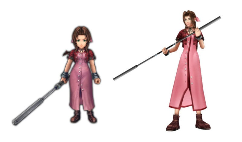 Aerith Final Fantasy VII vs explorers cameo
