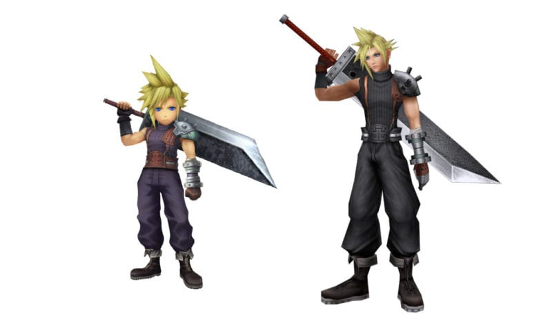 Cloud Final Fantasy VII vs explorers cameo