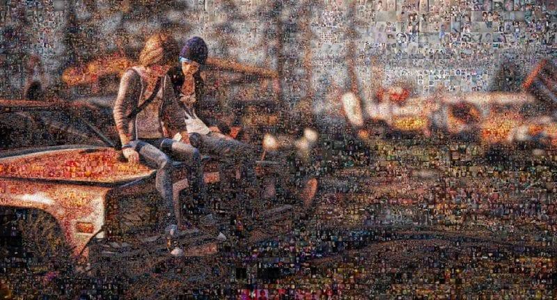 Life is Strange, fan art, mosaic