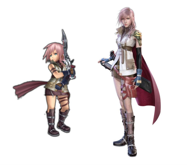 Lightning Final Fantasy XIII vs explorers