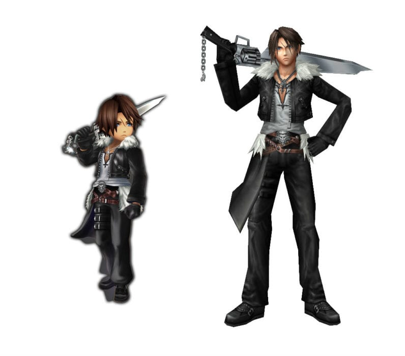 Squall Final Fantasy VIII vs explorers