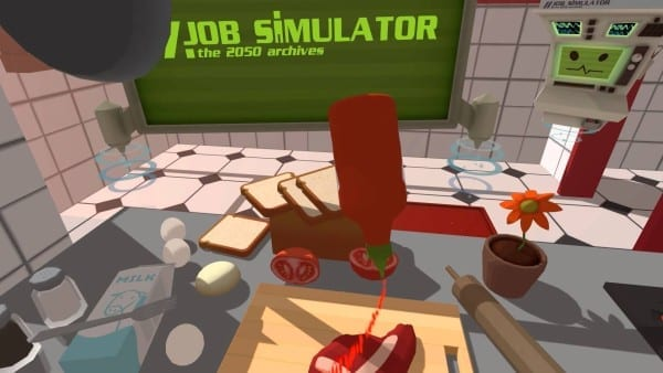 job simulator, , silly, vr, look, games, virtual reality
