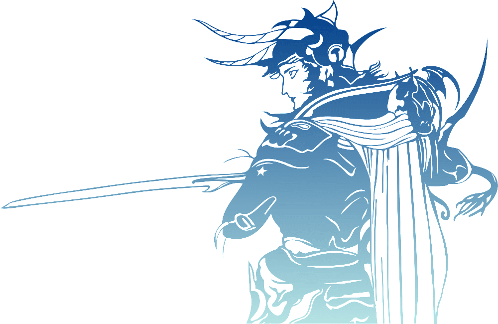 final fantasy, logo, warrior of light