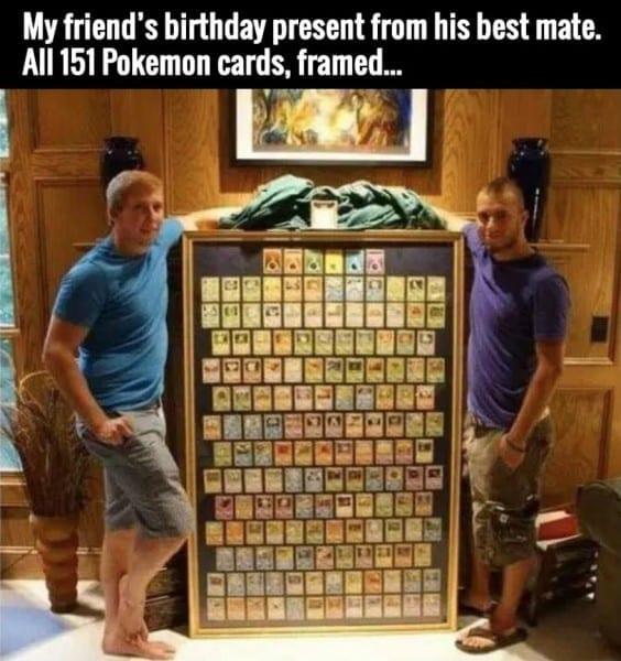 All Original 151 Pokemon Cards, Framed: The Best Birthday Gift Ever