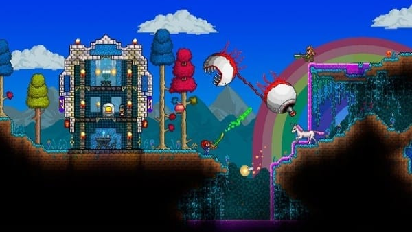 Terraria, Minecraft