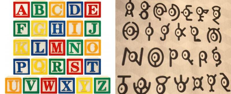 01 Alphabet-Unown