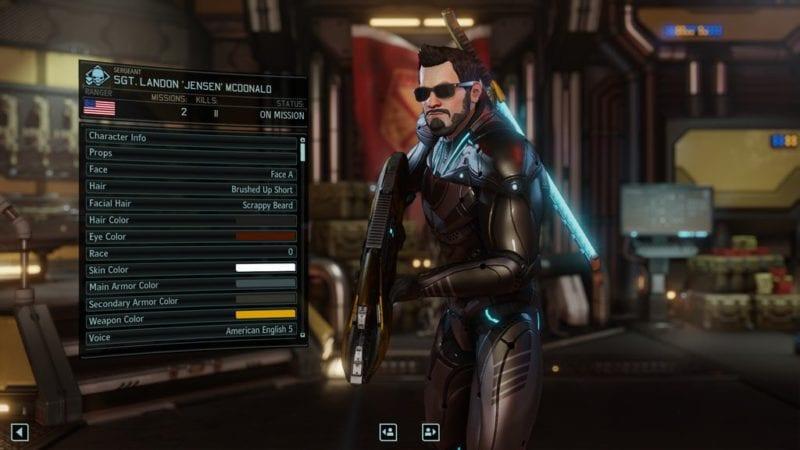 XCOM 2, character creation, Deus Ex, Adam Jensen
