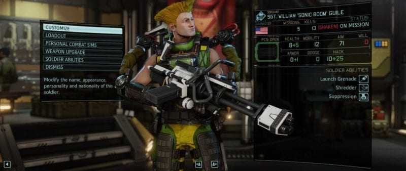 XCOM 2, character creation, Guile, Street Fighter