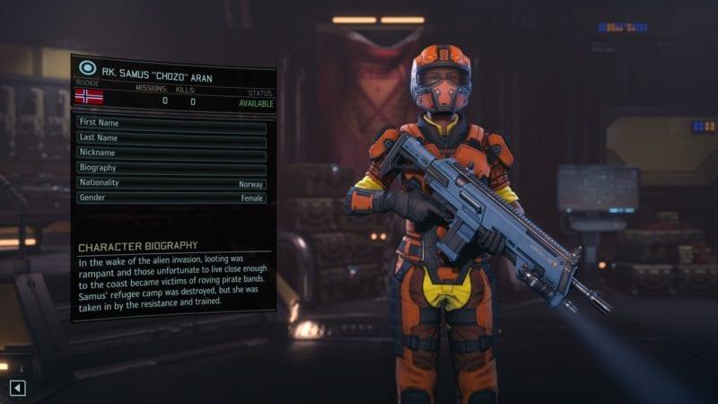 XCOM 2, character creation, Samus, Metroid