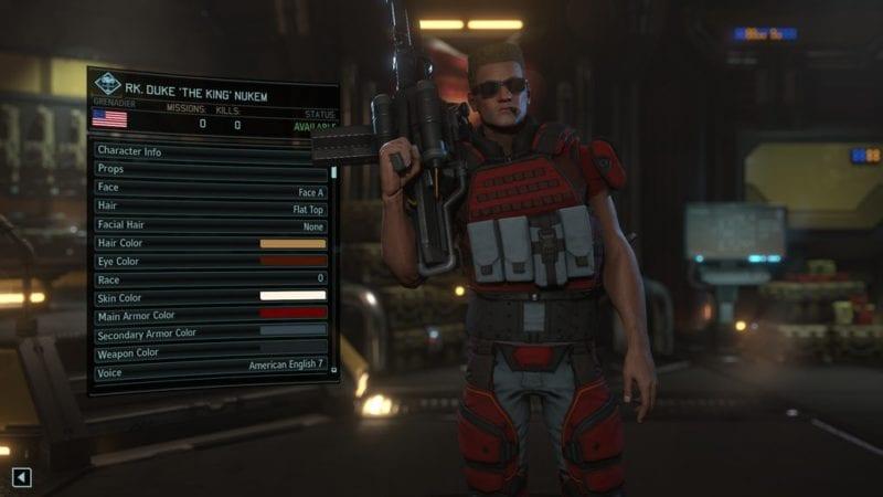 XCOM 2, character creation, Duke Nukem