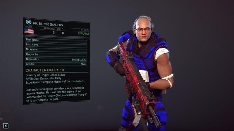 XCOM 2, character creation, Bernie Sanders