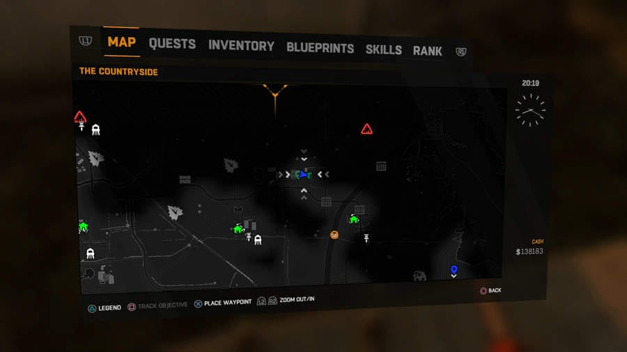 Dying light The Following Buggy Customisation Locations