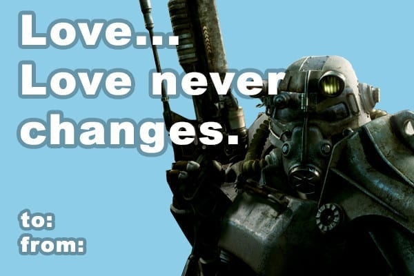 Fallout, Valentine's Day, Bethesda, Cards, Gifts, Wasteland, Dogmeat, Companion, Love