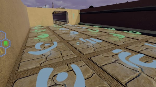 monumental floor glyphs