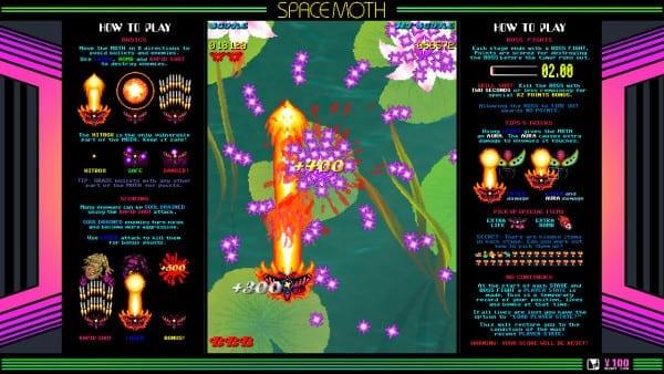 Space Moth DX Arcade Borders